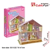 Deram Dollhouse-Sara'S Home CubicFun P678h 3D Puzzle 94 Pieces