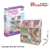 Pianist's Home Dollhouse CubicFun P684h 3D Puzzle 105 Pieces