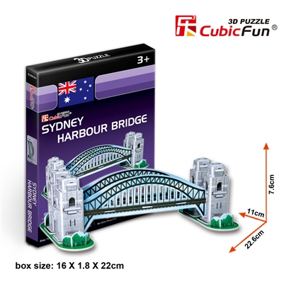 Sydney Harbour Bridge CubicFun S3002h 3D Puzzle 33 Pieces