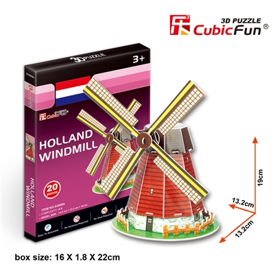 Holland Windmill CubicFun S3005h 3D Puzzle 20 Pieces