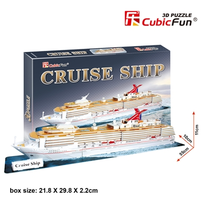 Cruise Ship CubicFun T4006h 3D Puzzle 86 Pieces