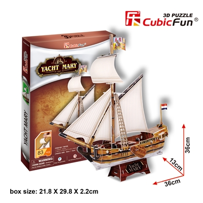 Yacht Mary CubicFun T4010h 3D Puzzle 83 Pieces