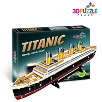 3D Puzzle Titanic Ship RMS (JP Morgan's Marine) Cubicfun T4012h small 35 Pieces