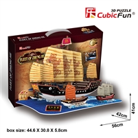 Fleet Of Zheng He CubicFun T4016h 3D Puzzle 210 Pieces