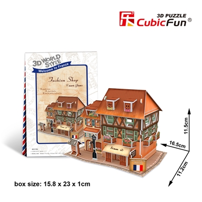 Fashion Shop CubicFun W3119h 3D Puzzle