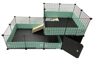 Guinea Pig and Hedgehog cageguard style cage home modified C&C cage