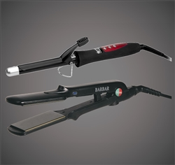 1200 Curling Iron + 1300 Titanium-Ionic Flat Iron