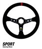 Dragonfire Racing Steering Wheel | Suede | Vinyl | Round | D-Shape | Adrenaline Junkee | AJ