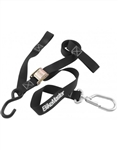 BikeMaster Swivel Tie Downs | Black | Red | Aftermarket | Safety | Polaris RZR XP 900 | XP4 | 800 | S | 4 | Can Am Commander | Maverick |  Arctic Cat Wildcat | Prowler | Kawasaki Teryx 750 | Teryx-4 | Ranger | Yamaha Rhino | Adrenaline Junkee | AJ