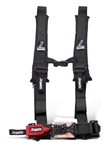 Dragonfire Racing 2x2 Harness Restraint | 4 Point | Aftermarket | Safety | Black | Red | Polaris RZR | Ranger | Can Am Maverick | Commander | Kawasaki Teryx | Arctic Cat Wildcat | Prowler | Yamaha Rhino | Viking | Adrenaline Junkee | AJ