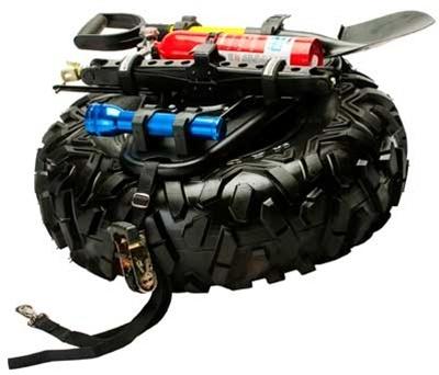 armor quickshot universal spare tire and accessory mount | utv