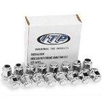 "ITP CHROME LUG NUT FULL SET (16) 3/8"" FLAT - POLARIS RANGER 400 425 500 700 800 RZR 170 800 S 4"