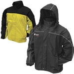 Frogg Toggs Toadz Highway Jacket | Black | Yellow | Rain Gear | Waterproof | Windproof | Polaris RZR | Ranger | Can Am Commander | Maverick | Arctic Cat Wildcat | Prowler | Kawasaki Teryx 4 | Yamaha Rhino | Mule | Adrenaline Junkee | AJ
