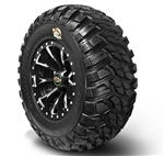 GBC Kanati Mongrol Tire & Wheel Package | UTV Tires | 15 inch | 28x10x15 | 30x10x14 | All Terrain | DOT Approved | Polaris RZR | Ranger | Arctic Cat Wildcat | Prowler | Can Am Maverick | Commander | Kawasaki Teryx | Yamaha Rhino | Viking