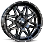 MSA M26 Vibe | Wheel | Aftermarket | UTV Accessory | Gloss Black | 14"