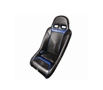 PRO ARMOR SNIPER XL SUSPENSION SEAT BLACK SEAT WITH BLUE PIPING AND STITCHING FOR POLARIS RZR S XP 4 900 XP4 800 570