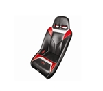 PRO ARMOR SNIPER XL SUSPENSION SEAT LIQUID SILVER BLACK SEAT WITH RED AND SILVER FOR POLARIS RZR S XP 4 900 XP4 800 570