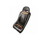 PRO ARMOR SNIPER XL SUSPENSION SEAT BLACK SEAT WITH ORANGE PIPING AND STITCHING FOR POLARIS RZR S XP 4 900 XP4 800 570