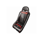 PRO ARMOR SNIPER XL SUSPENSION SEAT BLACK SEAT WITH RED PIPING AND STICHING FOR POLARIS RZR S XP 4 900 XP4 800 570