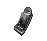 PRO ARMOR SNIPER XL SUSPENSION SEAT BLACK SEAT WITH SILVER PIPING AND STITCHING FOR POLARIS RZR S XP 4 900 XP4 800 570