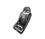 PRO ARMOR SNIPER XL SUSPENSION SEAT BLACK SEAT WITH WHITE PIPING AND STITCHING FOR POLARIS RZR S XP 4 900 XP4 800 570