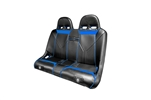 Pro Armor Black with Blue Stitching and Piping Sniper Bench Seat | Aftermarket | Accessories | 2010-2013 Polaris RZR XP4 900 | RZR-4 800 | Suspension Seat | 2010 2011 2012 2013 Adrenaline Junkee | AJ