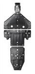"Pro Armor HMW Full Skid Plate Kit | Polaris RZR XP4 1000 | 2014-2015 | 3/8"" Thick Black HMW 