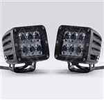 Rigid Industries Dually D2 LED Light Set | White Amber Accessories Aftermarket Driving Wide Lighting | Polaris RZR | Ranger | Can Am Commander | Maverick | Arctic Cat Wildcat | Prowler | Kawasaki Teryx | Yamaha Rhino | Mule | Adrenaline Junkee | AJ