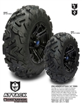 Pro Armor Attack Tires | All Terrain | Polaris RZR | Ranger | Can Am Commander | Maverick | Arctic Cat Wildcat | Prowler | 26x9x14 | 26x11x14 | Adrenaline Junkee | AJ
