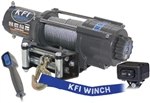 "KFI 4500 lb Wide Winch | Aftermarket | Wide | 15/64"" Cable Rope 