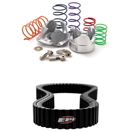 EPI SAND DUNE CLUTCH KIT WITH SEVERE DUTY DRIVE BELT - 2009 POLARIS RZR 800  S FOR STOCK TIRES 0-3000' ELEVATION