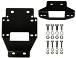 Winch Mounting Plate | 2011-2013 Polaris RZR XP 900 | XP4 900 | Jagged-X Edition | Aftermarket | UTV Parts | Accessories | 2011 2012 2013 | Heavy Gauge Steel | Black Powder Coat | Adrenaline Junkee | AJ
