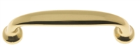 "25036 Premium Quality Solid Brass Round Pull Concealed Mount 5-1/8"" C/C, Overall Length: 6"""