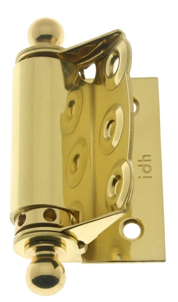 idh by St Pair Oil-Rubbed Bronze Simons 80360-10B Professional Grade Quality Solid Brass Heavy Duty Spring Screen Door Hinges with Ball Finials