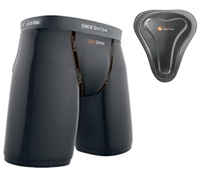 Shock Doctor Compression Shorts with Female Groin Protector