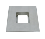 "CyberTech 6"" Recessed Light Square Trim in Satin Nickel"