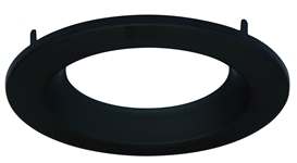 "CyberTech 6"" Recessed Light Round Trim in Black"