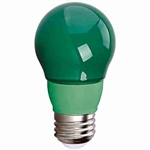 CyberTech Green 5 Watt A15 LED Party Light Bulb