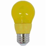 CyberTech Yellow 5 Watt A15 LED Party Light Bulb
