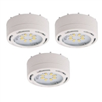Amax Lighting LEDPL3-WHT LED Under Cabinet Under Cabinet 120V Puck Light (3-Pack)