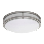 Amax Lighting LED-JR001NKL Two Ring Flush Mount Ceiling Fixture