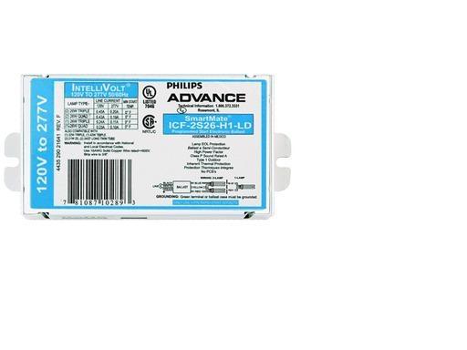 Advance Smartmate Icf 2s26 H1 Ld 2 Lamp 26 Watt Cfl 120 277 Volt Programmed Start 1 0