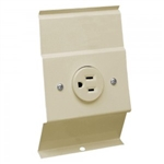 Cadet BRF12A Baseboard Heater 120V Receptacle Plate - Almond