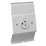 Cadet BRF12W Baseboard Heater 120V Receptacle Plate - White