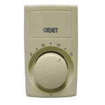 Cadet C611-25 Thermostat, 25A Single Pole Heat Only Anticipated Bimetal Wall Mount - Ivory