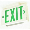 120V Incandescent Exit Sign with Downlight-Off White with Green Letters