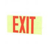 Elco Lighting Self Illuminating Exit Sign-Red Letters