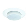 "Elco Lighting 6"" Line Voltage Shower Trim with Drop Opal-White"