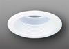 "Elco Lighting 5"" Line Voltage Metal Splay Trim with Baffle-White"