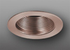 "Elco Lighting 4"" Line Voltage Trim with Metal Step Baffle-Copper"